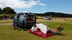 Der Chaos Bus und das Zelt
